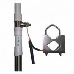 Antena marina HF Tagra HF-900 1.4-30 Mhz 1000W 9 m en 3 tramos detalle conexion