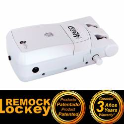 Remock Lockey Pro cerradura de seguridad color blanco