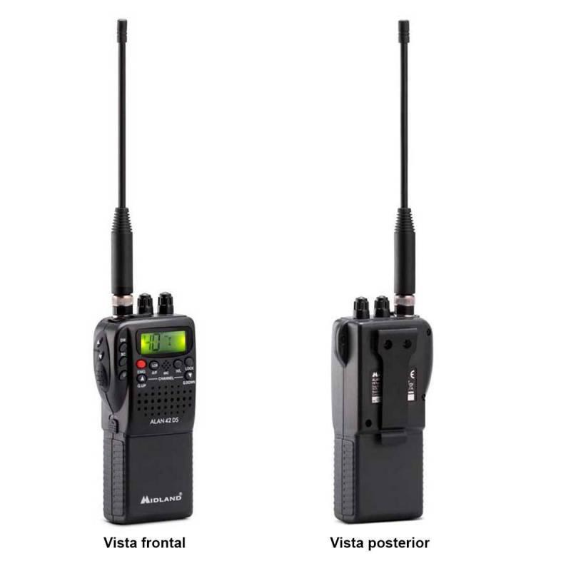 Walkie CB Midland Alan 42 DS squelch digital y filtros ANL-noise blanker 40 CH