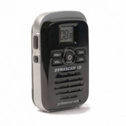Walkie Profesional PMR y LPD Dynascan 1D 500 mW 8 canales y escaner color negro