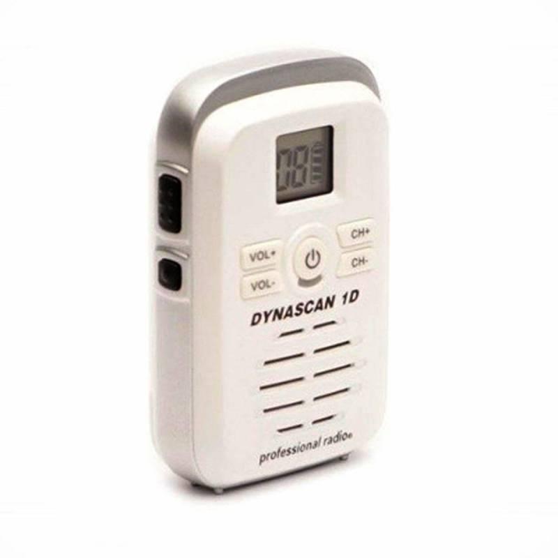 Walkie Profesional PMR y LPD Dynascan 1D 500 mW 8 canales y escaner color blanco