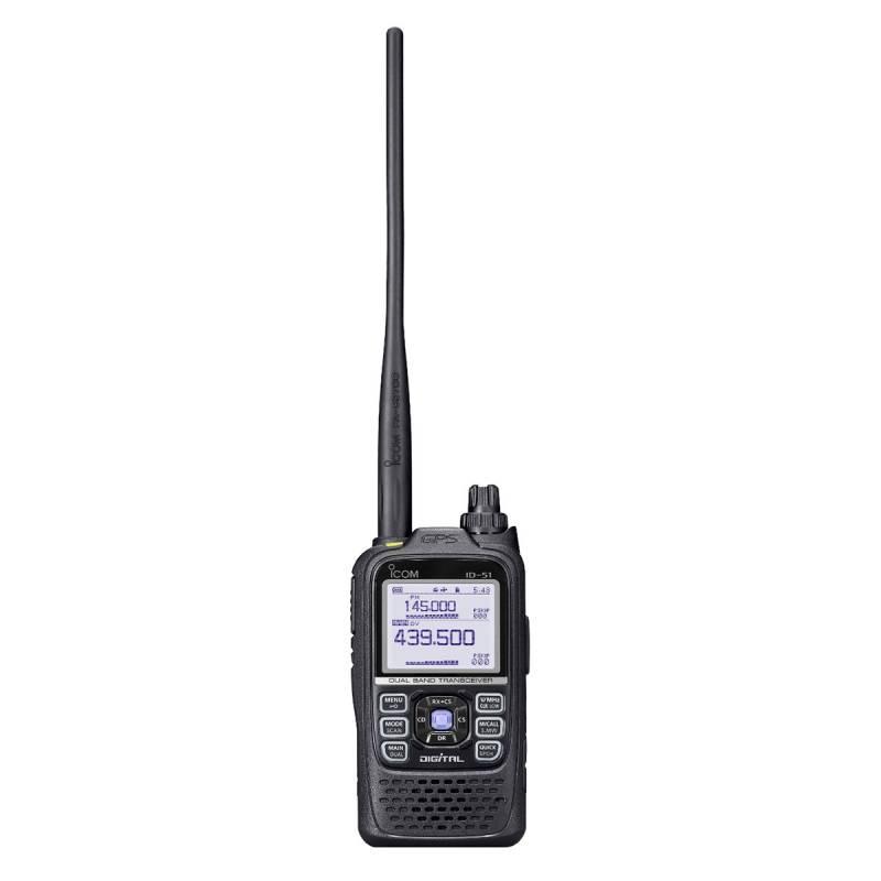 Walkie bibanda Digital Icom ID-51E PLUS 2 con recepción hasta 1000MHz