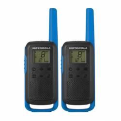 Blister de 2 walkies PMR Motorola T62 500 Mw 446 MHZ 8 canales color azul