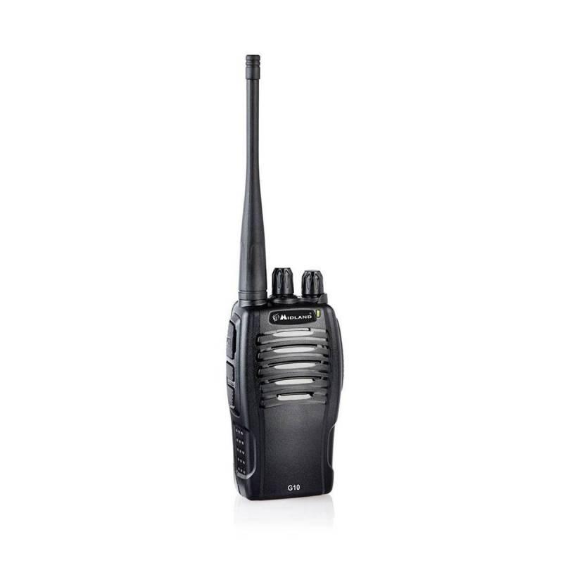 Walkie PMR Midland G10 500 mW 8 canales Vox y batería Litio