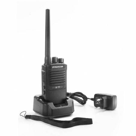 Walkie Profesional PMR 446 Dynascan R-77 500 mW 32 CH escáner