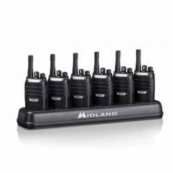 Pack 6 unidades walkie profesional PMR 446 Midland BR02 Multipack 6