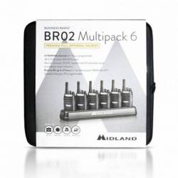 Maletín 6 unidades walkie profesional PMR 446 Midland BR02 Multipack 6