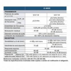 Características del transmisor-receptor del Walkie Marino Icom IC-M85E Profesional VHF y PMR con 22 canales