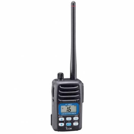 Walkie Marino Icom IC-M87 ATEX VHF y PMR profesional ATEX con 22 CH