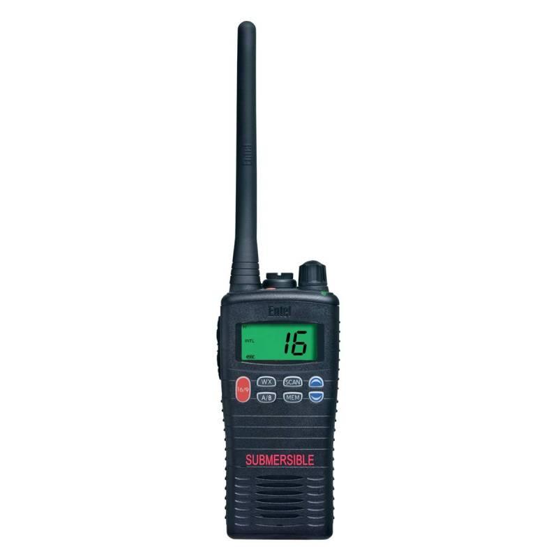 Walkie Marino Entel HT644 VHF IP68 sumergible 60 min a 5 m profundidad