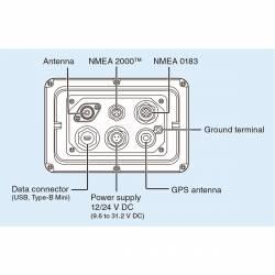 Transpondedor Icom IC-MA510TR AIS Clase B con LCD TFT en color vista conectores