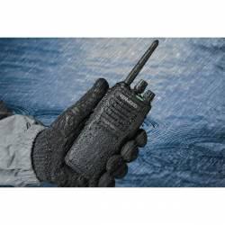 Walkie Kenwood TK-3701DE PMR 446 Mhz IP 54 48 CH scan, secrafonía y vox trabajando en lluvia
