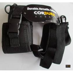 Funda para walkie Cordura de Nylon ajustable a varios tamaños con correa