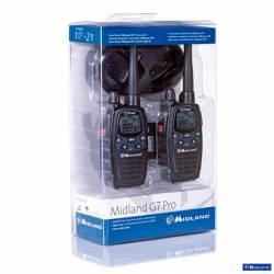 Kit 2 walkies Midland G7 Pro PMR 8CH con vox control y vibrador