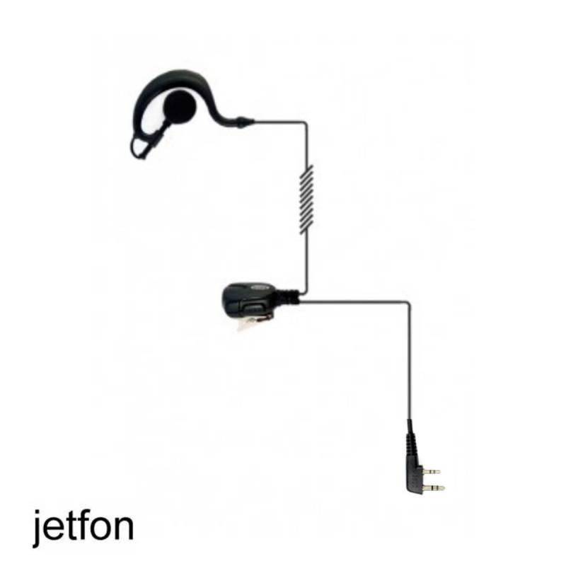 Micrófono auricular Jetfon BR-1703E/C, compatible con Motorola GP300
