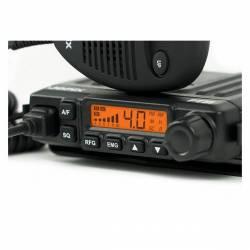 Emisora Jopix PT31 CB AM-FM Smeeter LCD y Squelch automático detalle display