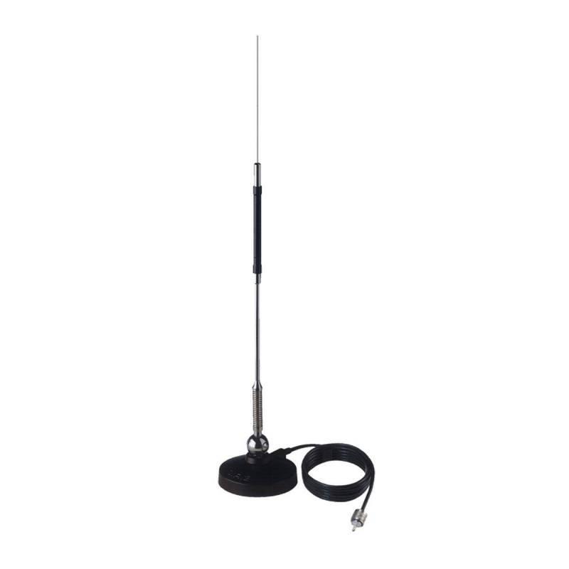 Antena móvil 1/4 Sirio Mini Mag 27 50W base magnética y cable incluído