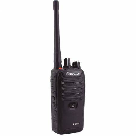 Walkie talkie PMR Wouxun KG-968 uso libre con radio FM y Bluetooth