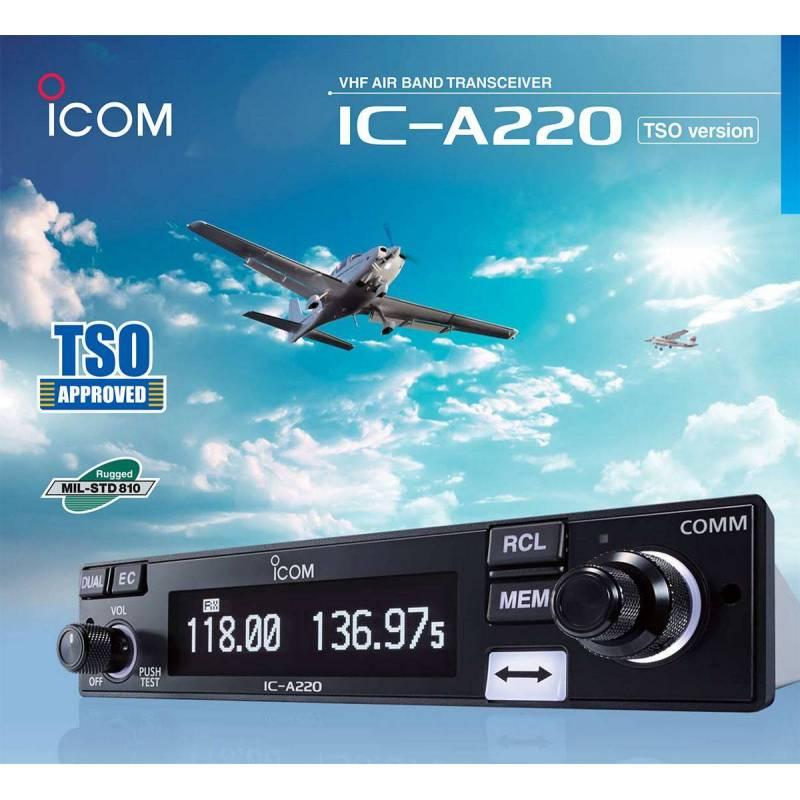 Icom IC-A220 emisora banda aérea con TSO