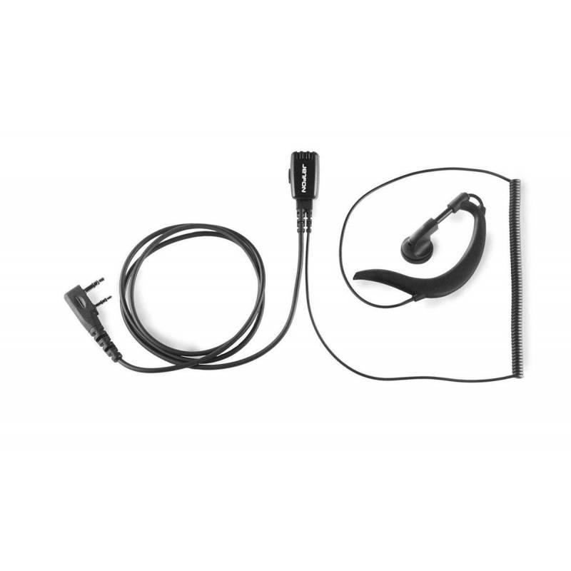 Micrófono auricular Jetfon JR-1701EIL/C, compatible con Icom