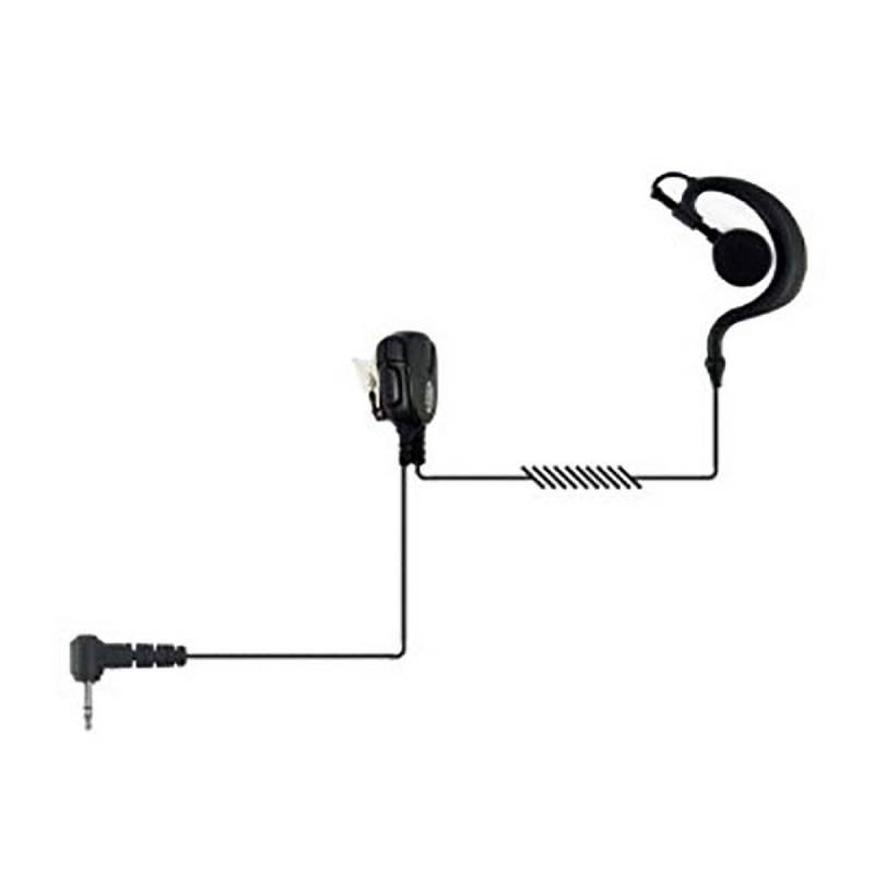Micrófono auricular Jetfon BR-1704E-C, compatible con Yaesu