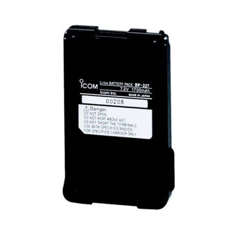 Batería Icom BP-227 Litio 7.4V 1700 mAh para Icom IC-M87-88 e IC-F51