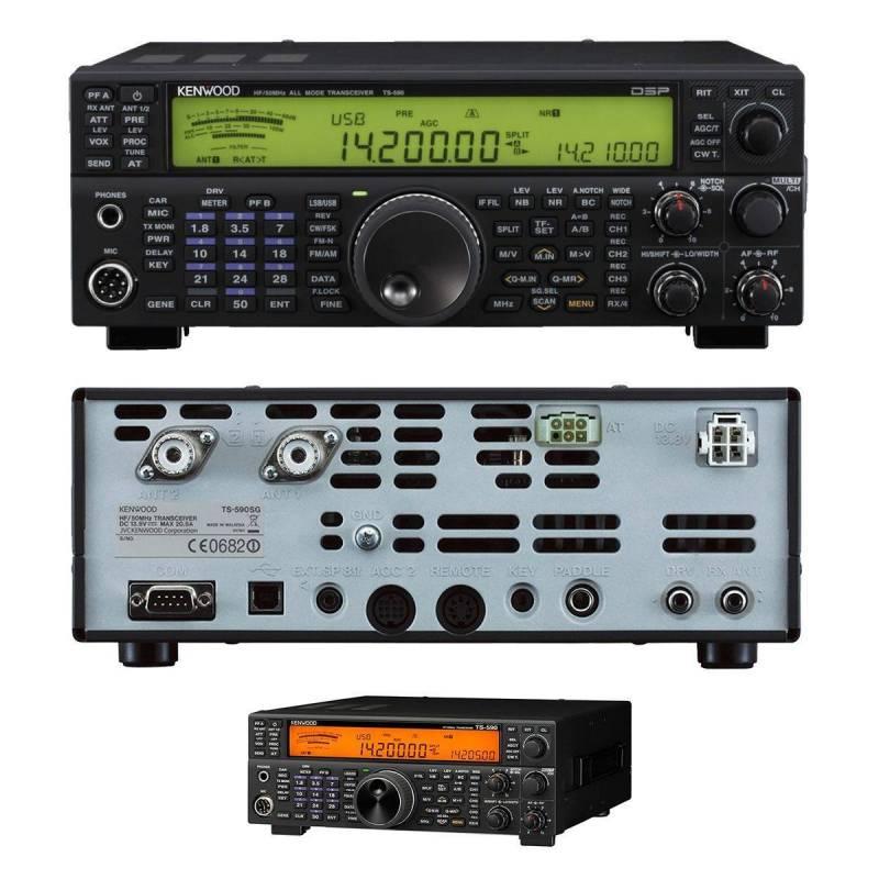 Emisora decamétrica Kenwood TS-590SG 100 KHz-30 y 50 MHz 100W