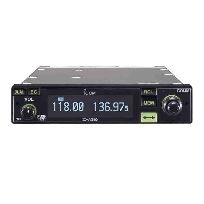 Emisora banda aérea Icom IC-A210E sin kit MB53 para micro y altavoz