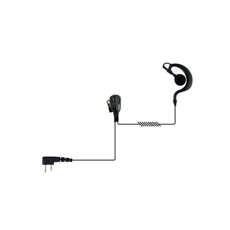 Micrófono auricular Jetfon JR-1702 E/C compatible con Kenwood