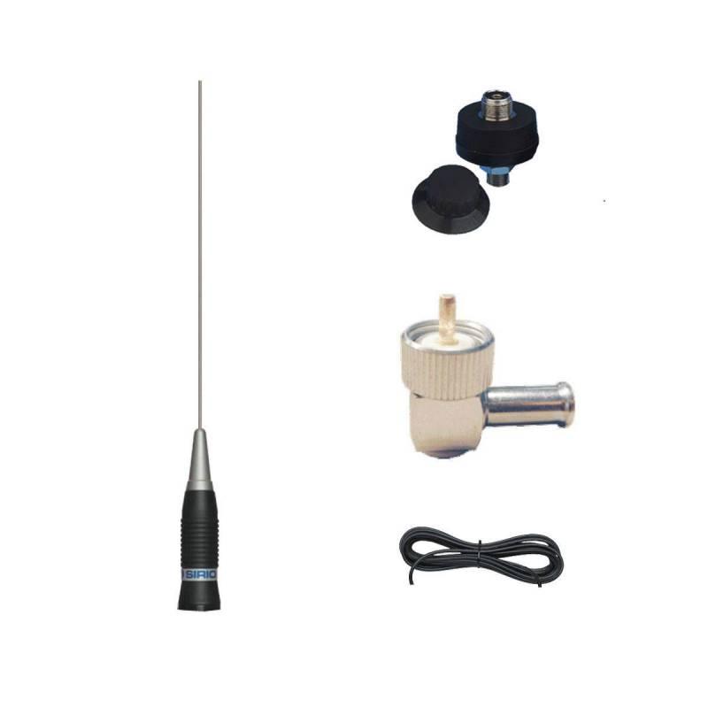 Antena móvil CB 5/8 Sirio AS 100 PL 300W 4.5dB 1 m. con cable