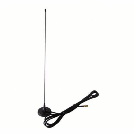 Antena móvil Telecom EX-35-V-S VHF 1/4 144 MHz base magnética SMA