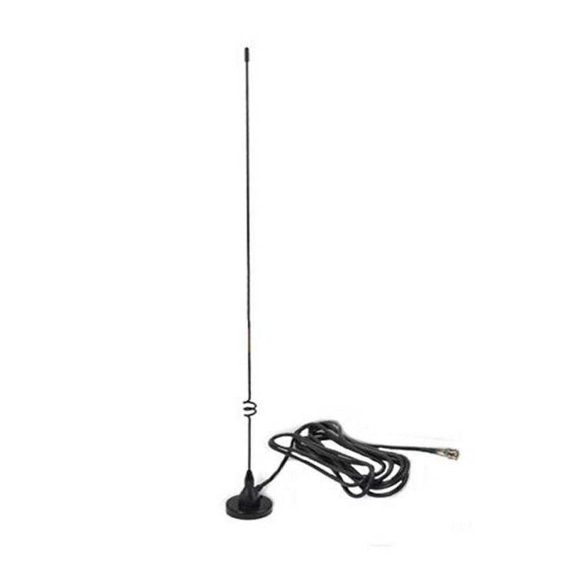Antena móvil bibanda Telecom EX-35-VU-BNC V-UHF base magnética 500 mm