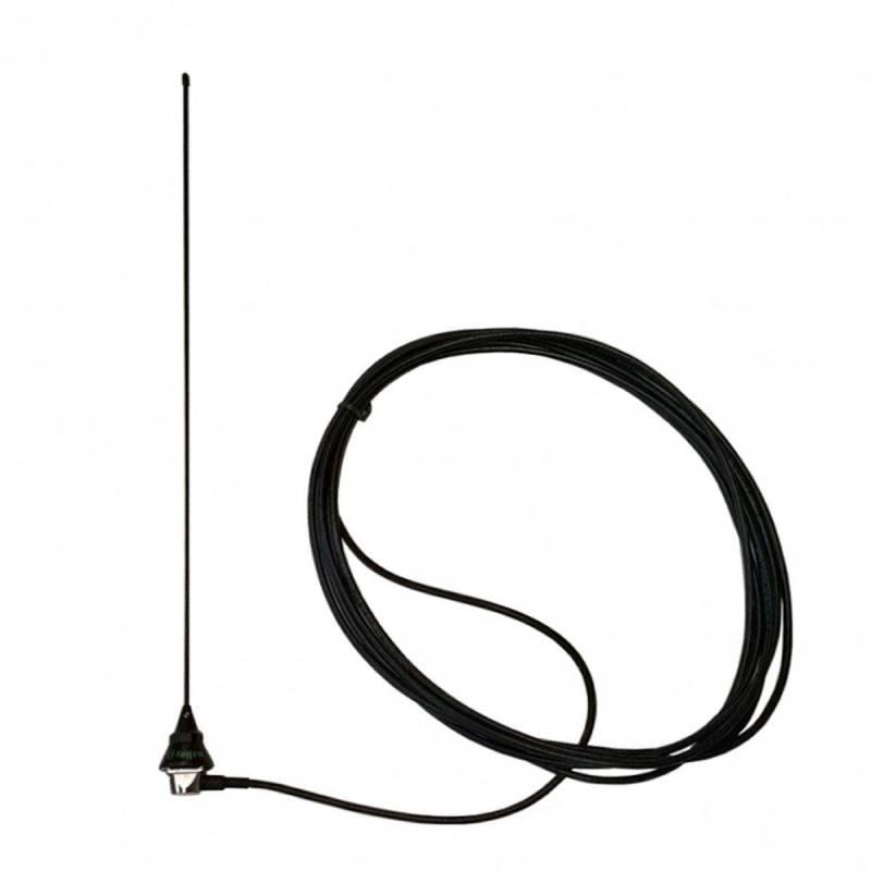 Antena móvil VHF 1/4 Tagra VH-8AIR 605 mm. 150W incluye cable y base