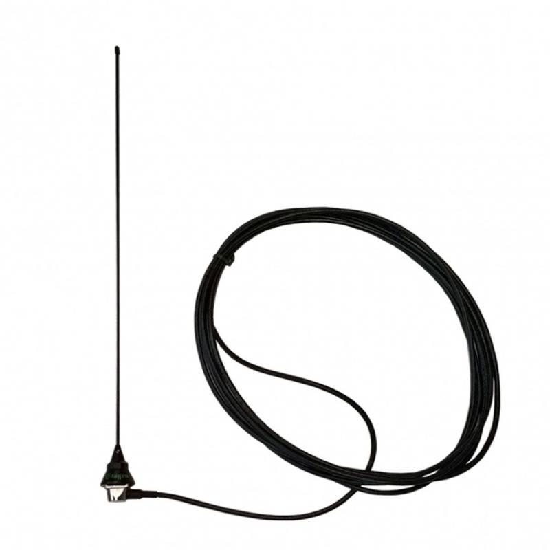 Antena móvil VHF 1/4 Tagra VH-8 565 mm. 150W incluye cable y base