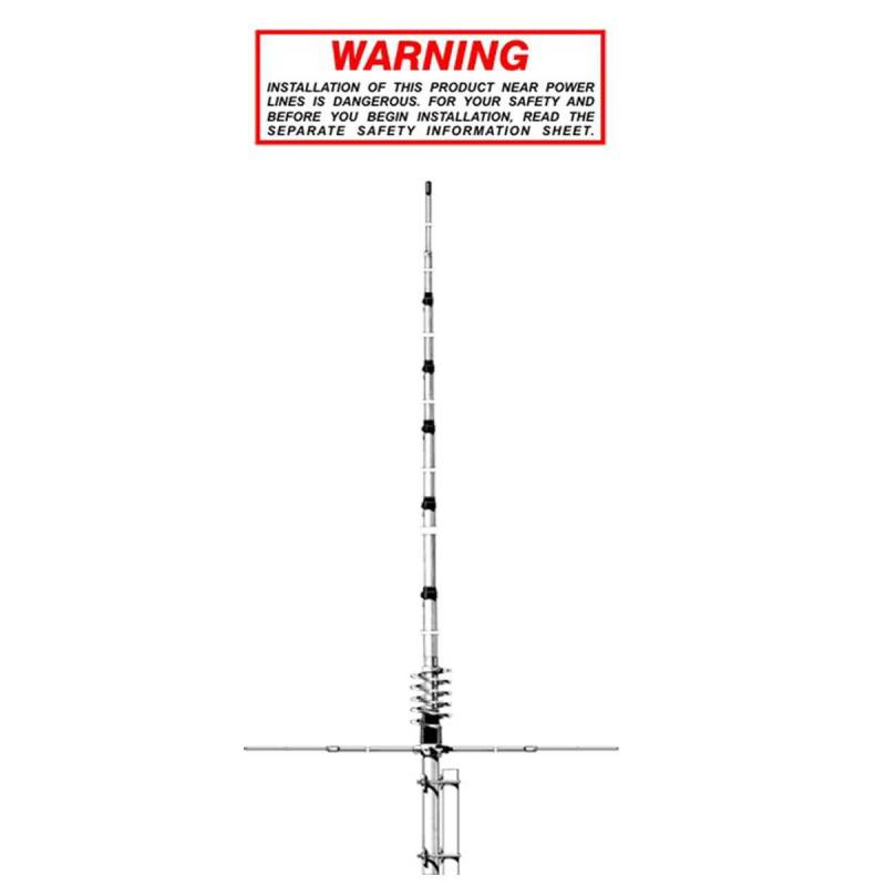 Frecuencia 27 Antena CB Fija 5//8 /¦ Ground Plane CW Short Time de Aluminio con radiales Ganancia 3,35 dBi Altura 7,23 m Potencia m/áxima 3000 W Sirio Antenas New Tornado 30 MHz