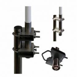 Antena marina VHF Tagra CVX-8 100W 8dB 4.70m. Conector PL detalle base y conector