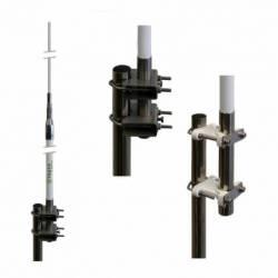 Antena marina CB Tagra M-27 1/2 1/2 onda 3dBd 300W 5.30 m en 2 tramos detalle base