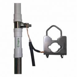 Antena marina HF Tagra HF-600 1.4-30 Mhz 600W 6 m en 2 tramos detalle conexion